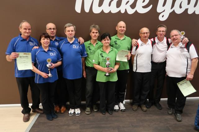 Platz 1: BC Bowling Stones Magdeburg I Platz 2: BC Sandersdorf II Platz 3: VSG Oppin I